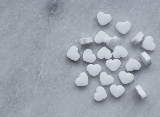 Petits coeurs en sucre