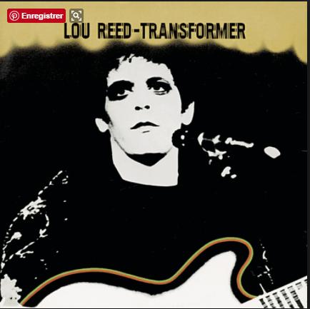 Jaquette Vinyle Disque Lou Reed Transformer