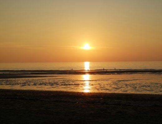 Coucher de soleil - Plage de Blonville sur Mer