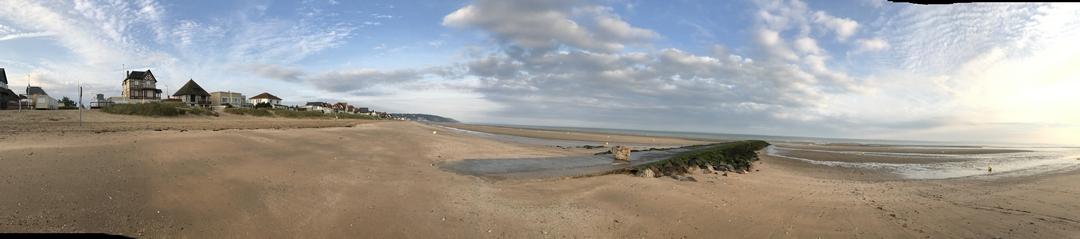 Panorama Plage de Blonville sur Mer en Normandie