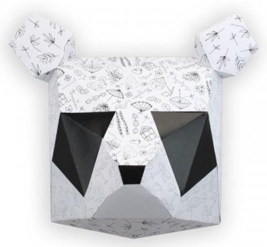 Panda a colorier Agent Paper