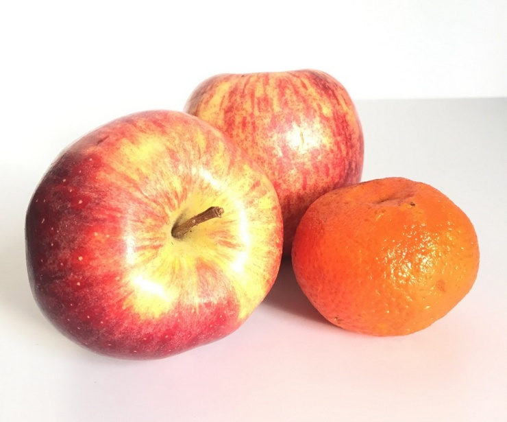 pommes et clementine