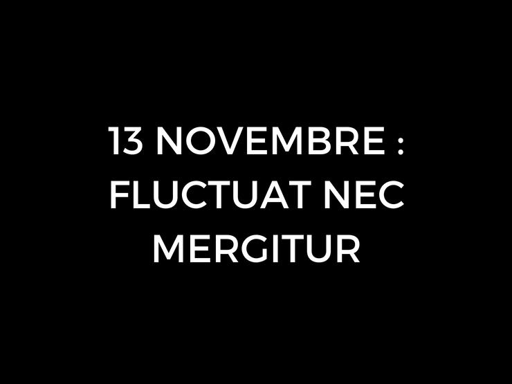 13 Novembre Fluctuat Nec Mergitur