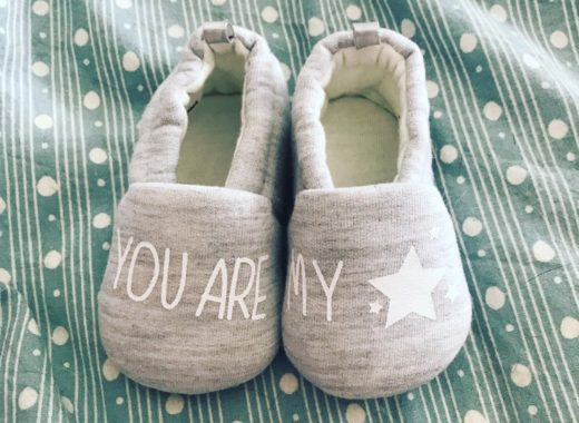 Petits chaussons bébés - You are my Star