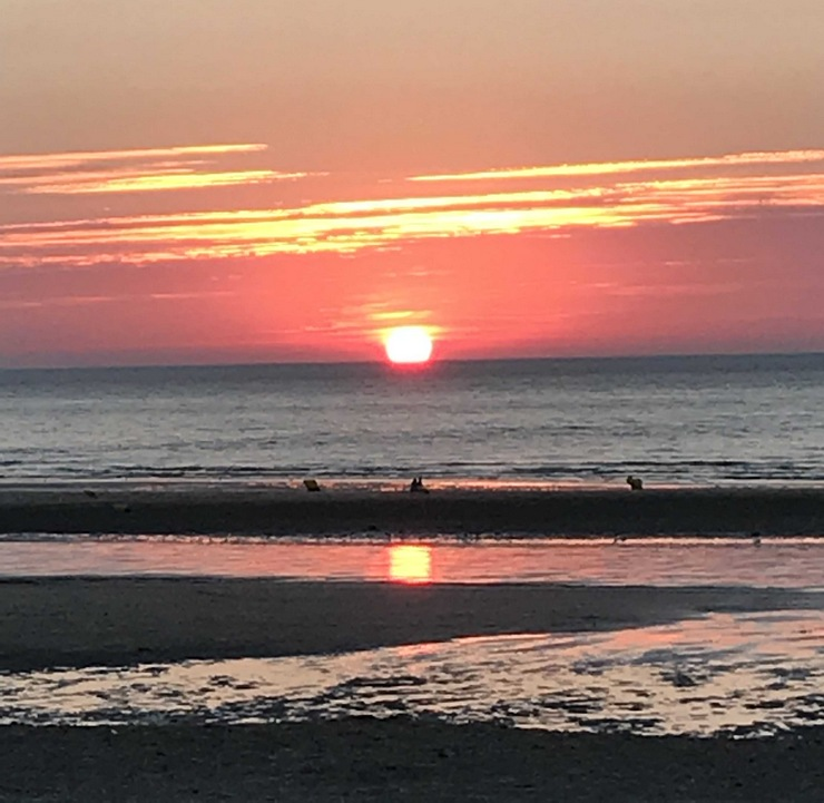 Coucher de soleil Blonville sur mer Normandie