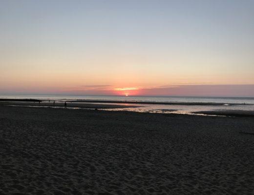 Coucher de soleil Plage de Blonville sur mer 2018