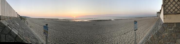 Panorama plage de Blonville sur mer