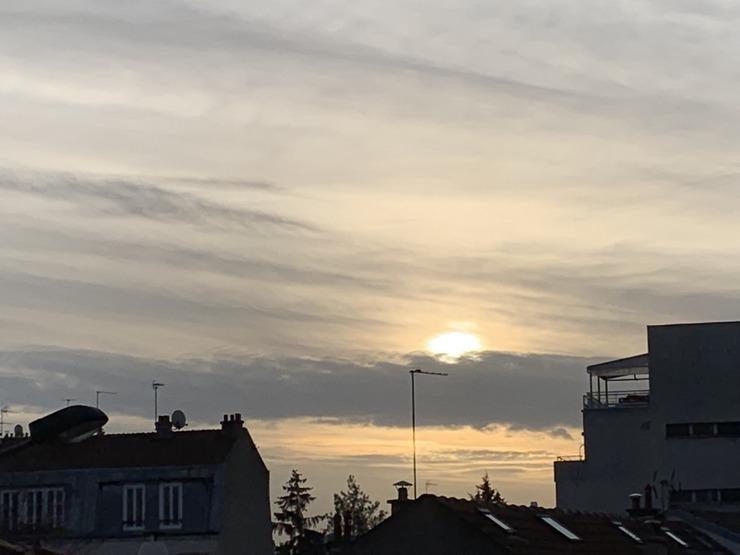 lever de soleil aquarelle asnieres sur seine 2019