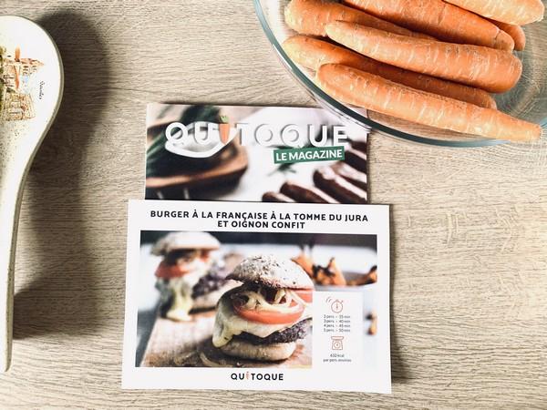 Burger à la française recette Quitoque