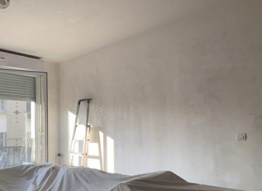 murs salon apres poncage