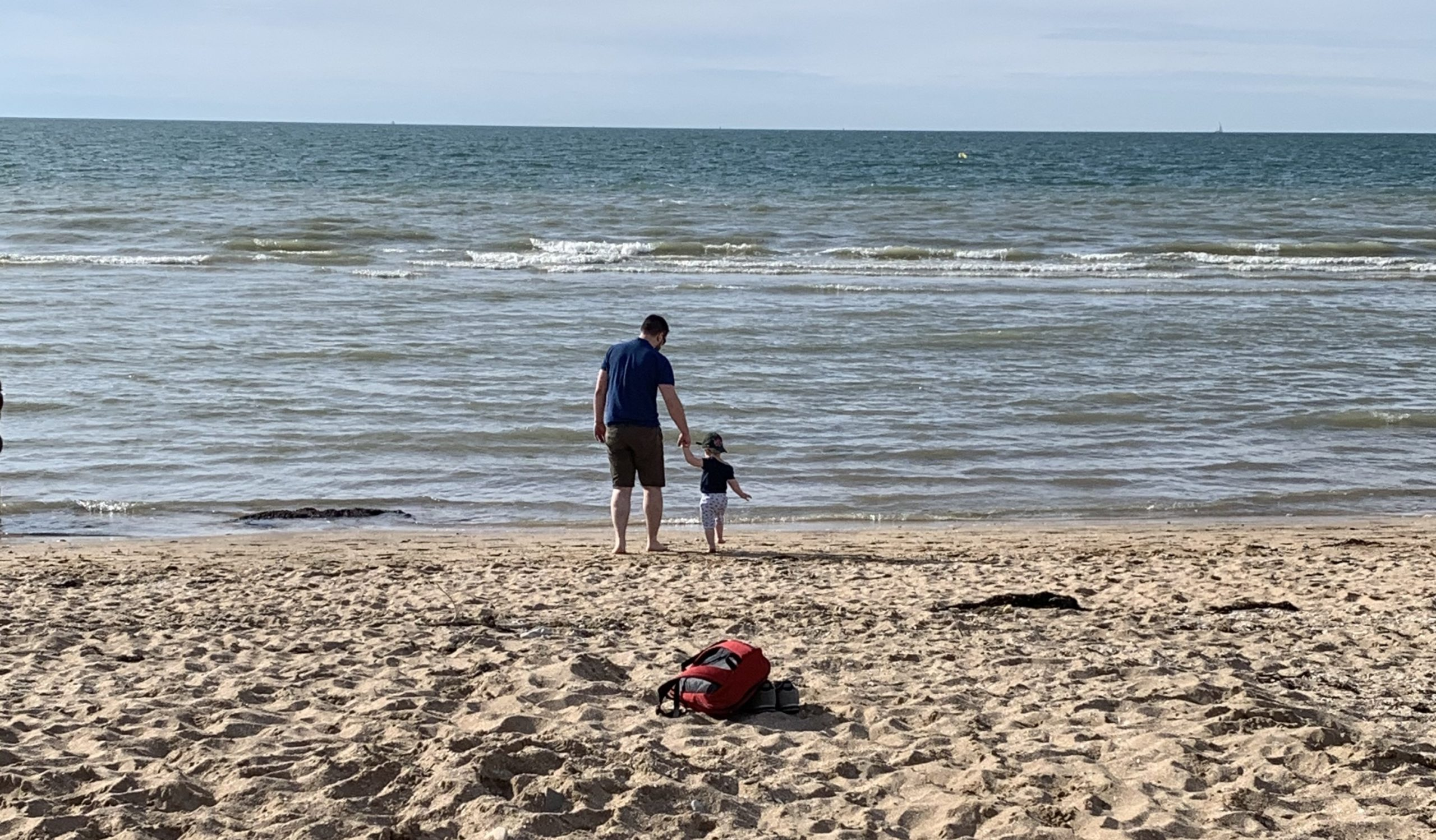 my boys husband and son at the beach
