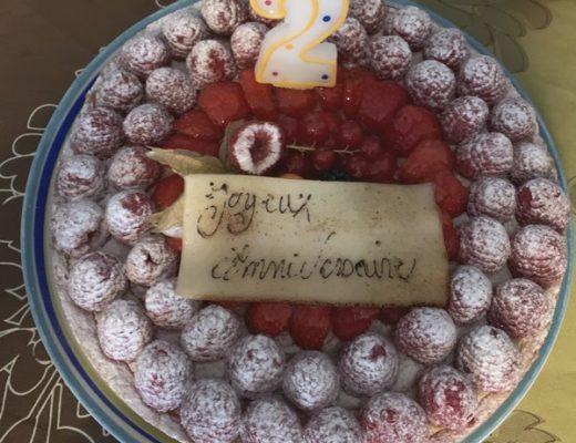 Gâteau anniversaire deux ans