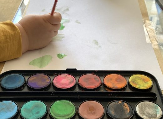 découverte de la peinture pour notre petit garçon