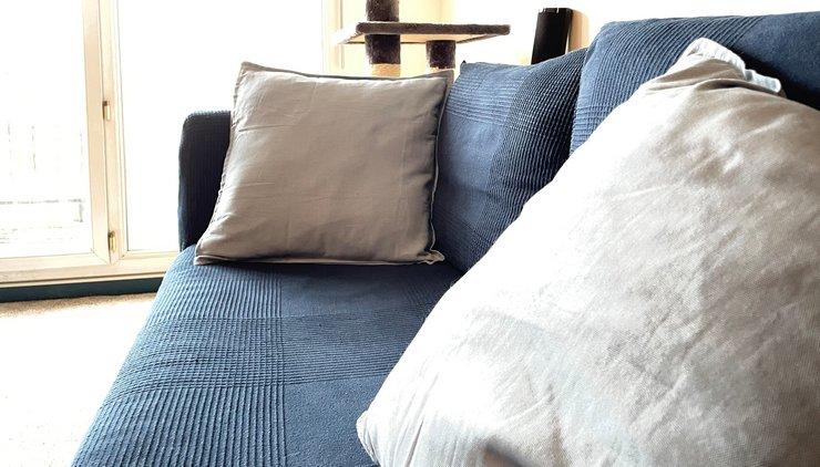 sofa makeover blue canva
