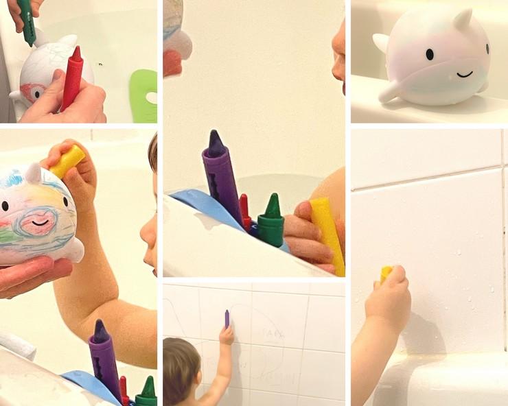 narwhy de bain a colorier janod crayons couleur de bain jouet bain bebe