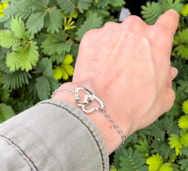 bracelet argent orné de cristaux SWAROVSKI