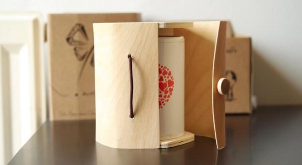 écrin en bois bougie bijoux ArtGosse